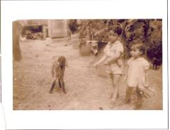 Vega as a child with a goat
