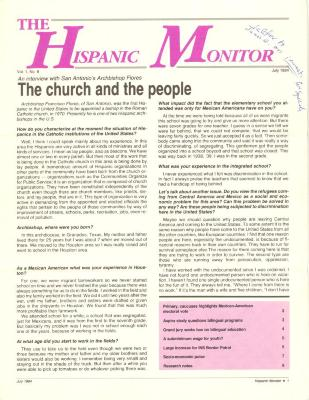 The Hispanic Monitor Newsletter, 1984
