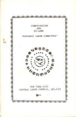 "Constitution and By-Laws for ""Hispanic Labor Committee"""