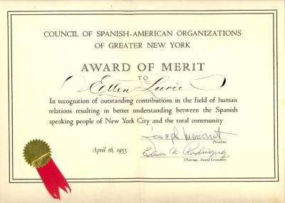 Award of Merit to Ellen Lurie