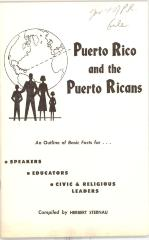 Outline of facts for Puerto Rico and Puerto Ricans