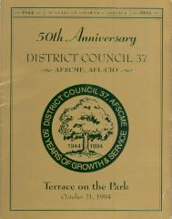 50th Anniversary District Council 37, AFSCME, AFL-CIO program