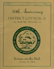 50th Anniversary District Council 37, AFSCME, AFL-CIO program