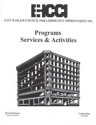 East Harlem Council for Community Improvement, Inc. Programs, Services & Activities