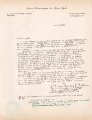 Thank you letter from president of Ateneo Puertorriqueño de Nueva York to contributors, 1963