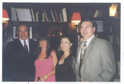 Herman Badillo, wife Gail, daughter-in-law Millie, and son David, New York City