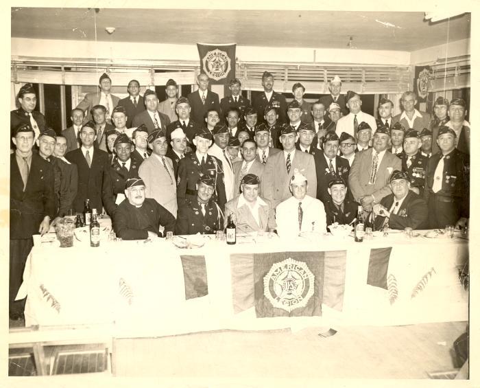 Fragoza and fellow American Legion members