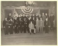 Fragoza and fellow American Legion members