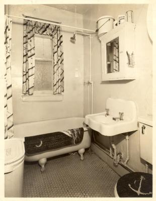 Bathroom in Fragoza residence in the Bronx