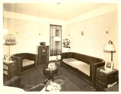Living room in Fragoza residence in the Bronx