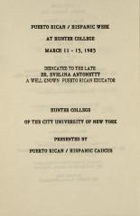 Puerto Rican/Hispanic Week at Hunter College