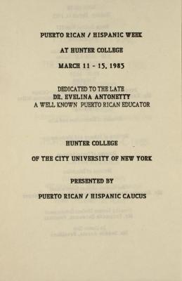 Puerto Rican/Hispanic Week at Hunter College