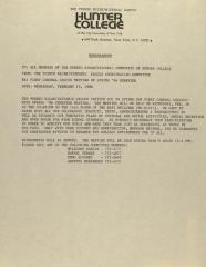 Memorandum from the Puerto Rican/Hispanic Caucus of Hunter College