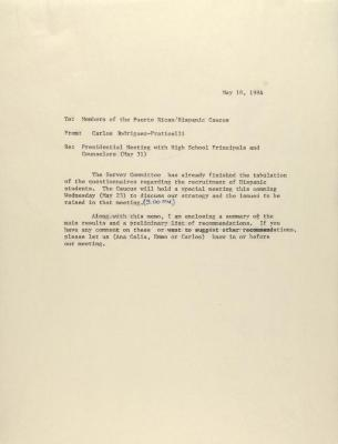 Memorandum from Carlos Rodriguez-Fraticelli