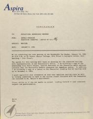 Memorandum from ASPIRA