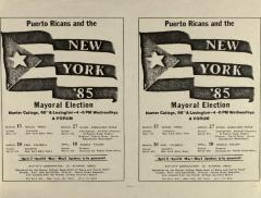 Puerto Ricans and the New York '85 Mayoral Election