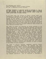 Statement Presented to President LeClerc on November 15, 1988 by Mr. Emmo Alvarez on Behalf of the Hispanic Caucus of Hunter College Outlining the Main Issues Affecting Puerto Ricans and Other Latinos Here At Hunter College