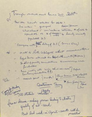Manuscript Notes of the Puerto Rican/Latino Caucus of Hunter College