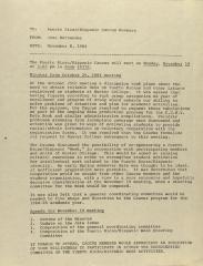 Memorandum from José Hernández Álvarez