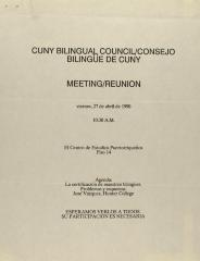 CUNY Bilingual Council / Consejo Bilingüe de CUNY