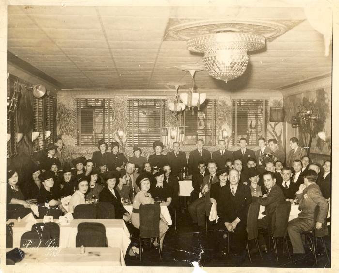 Fragoza and American Legion members and their families