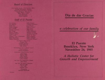 Día de Dar Gracis / A Celebration of Our Family