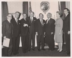 Politicians gather for photograph in City Hall, New York, NY
