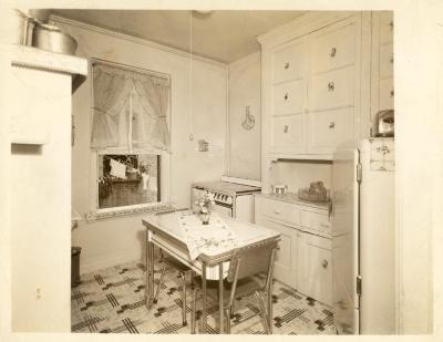 Kitchen in Fragoza residence in the Bronx