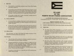 By-Laws of the Puerto Rican Studies Association