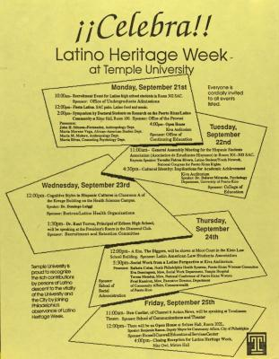 Celebra! Latino Heritage Week at Temple University