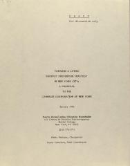 Towards a Latino Dropout Prevention Strategy in New York City: A Proposal to the Carnegie Corporation of New York