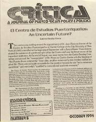 El Centro de Estudios Puertorriqueños: An Uncertain Future?