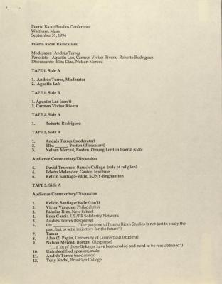 Puerto Rican Studies Association Conference - Puerto Rican Radicalism