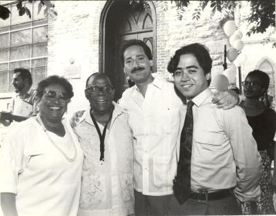 Fernando Ferrer with others