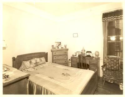 Bedroom in Fragoza residence in the Bronx