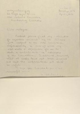 Correspondence to La Raza Legal Alliance