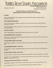 Institutional Affiliations of Candidates for PRSA Executive Council