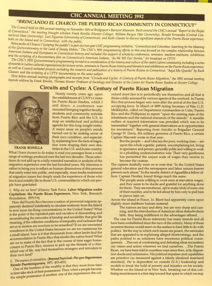 CHC Annual Meeting 1992