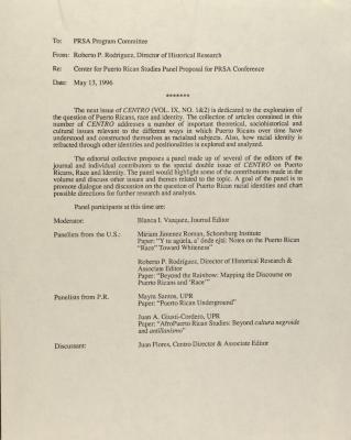 Memorandum from Roberto P. Rodriguez