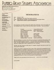 Memorandum from the Puerto Rican Studies Association