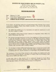 Memorandum from the Institute for Puerto Rican Policy, Inc.