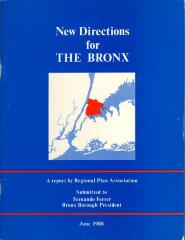New Directions for The Bronx: A report by Regional Plan Association (cover)