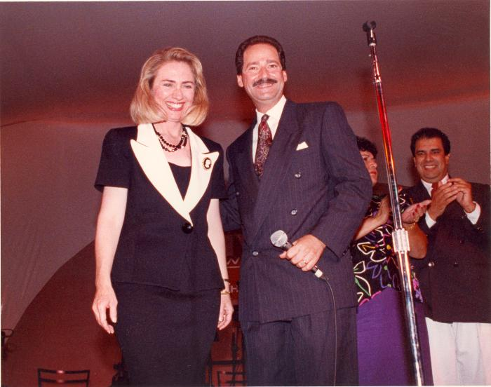 Ferrer with Hillary Clinton