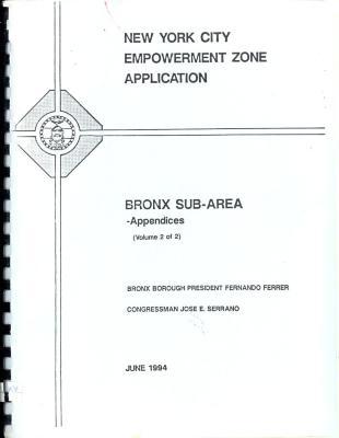 New York City Empowerment Zone Application, Bronx Sub-Arena
