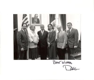 Ferrer with fellow politicians