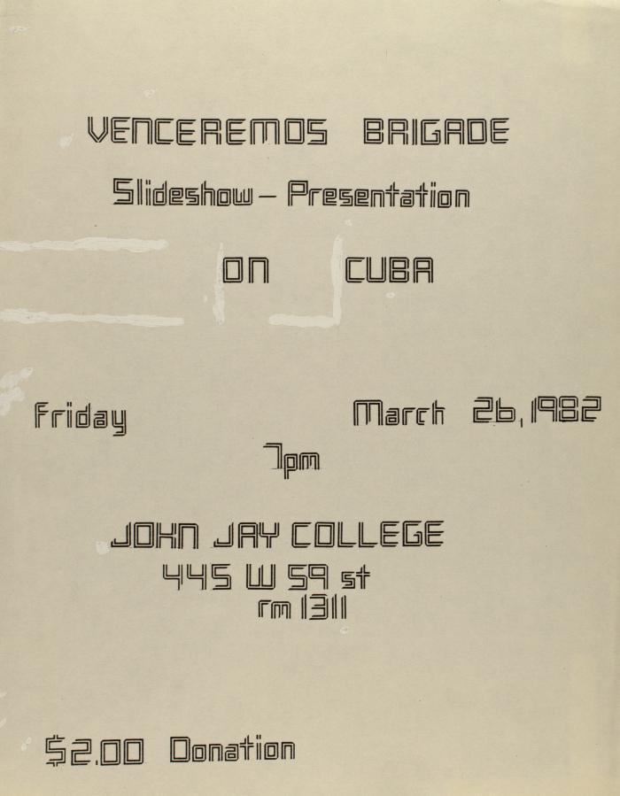 Venceremos Brigade - Slideshow Presentation on Cuba