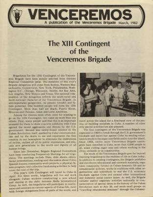 The XIII Contingent of the Venceremos Brigade