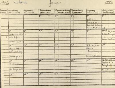 Schedule of the 1st Festival de Teatro Popular Latinoamericano of N.Y.