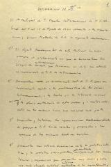Manuscript Notes of Declaracion de N.Y.