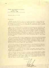 Correspondence from Teatro Universitario de Trujillo